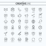 Outline business and finance icons set. You can use this icons for your web and mobile graphical user interface, advertising, etc Stock Image