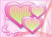 A card with hearts. Stock Images