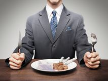 You Cant Eat Money Stock Images