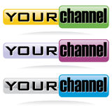 You channel web button Stock Photo