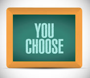 You choose board sign illustration design Royalty Free Stock Images