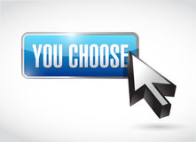 you choose button illustration design Royalty Free Stock Photography