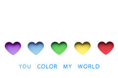 You color my world. Royalty Free Stock Photography