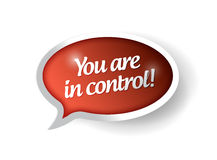You are in control red message bubble illustration Royalty Free Stock Photos