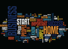 Are You Convinced That You Succeed Your Home Business Word Cloud Concept Royalty Free Stock Photography