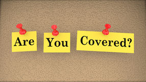 Are You Covered Insurance Risk Gap Policy Question. 3d Illustration Stock Photo