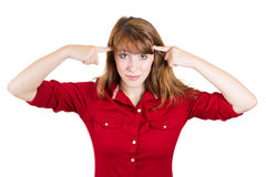 Are you crazy? Royalty Free Stock Photo