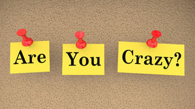 Are You Crazy Nuts Mad Insane Question Sanity Check Royalty Free Stock Photos