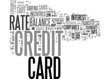 Are You A Credit Card Tartword Cloud Stock Photo