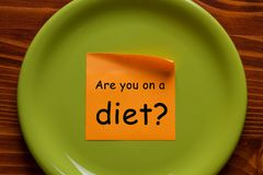 Are you on a diet stock images