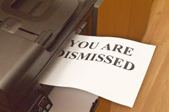 You are dismissed Stock Photo