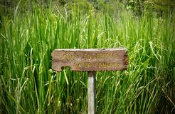 You Are Entering Gator Country Sign. In a swamp outside of New Orleans, Louisiana Stock Images