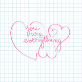 You are everything Royalty Free Stock Photography