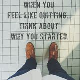 When you feel like quitting think about why you started. Quotes of the day Royalty Free Stock Photo