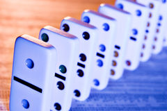 You financial future is no game. Dominos on stock report stock image