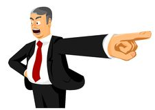 You are fired!. Angry boss saying: You are fired Royalty Free Stock Photography