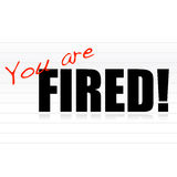 You are fired. Notepad  illustration design Stock Images