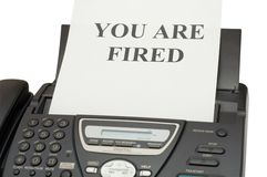 You are fired Royalty Free Stock Photos