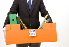 You are fired. A man fired from his job Royalty Free Stock Photography