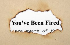 You are fired. Close up of You are fired concept Royalty Free Stock Photos