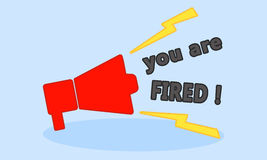 You are fired. The Fired image Stock Images