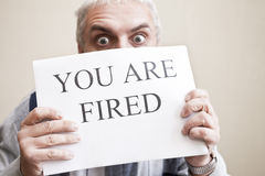 You are fired stock image