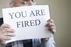 You are fired royalty free stock image