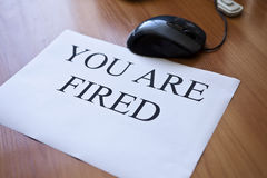 You are fired Royalty Free Stock Images