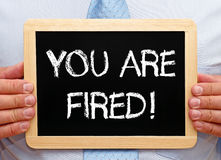 You are fired Royalty Free Stock Photography