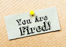 You are Fired Message Stock Photos