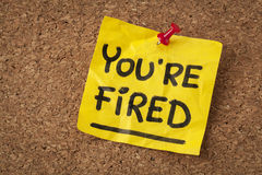 You are fired note Stock Photos