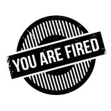 You Are Fired rubber stamp. Grunge design with dust scratches. Effects can be easily removed for a clean, crisp look. Color is easily changed Stock Photos