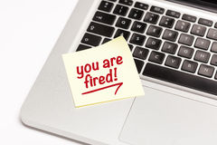 You are fired! Royalty Free Stock Photography