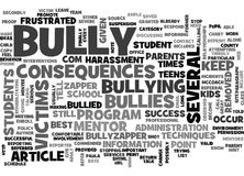 Are You Frustrated You Have Not Been Able To Stop The Bullies Word Cloud. ARE YOU FRUSTRATED YOU HAVE NOT BEEN ABLE TO STOP THE BULLIES TEXT WORD CLOUD CONCEPT royalty free illustration