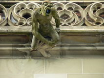 Only you. Gargoyle, gothic cathedral of Bern (Schweiz Stock Photography