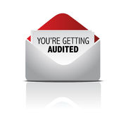 You are getting audited mail illustration design. Over white Royalty Free Stock Photography