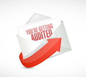 You are getting audited mail illustration Royalty Free Stock Photo