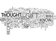 When You Give A Gift It S The Thought That Counts Right Word Cloud