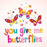 You give me butterflies Stock Photo