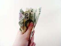 You Got Cash. Closeup of Twenty Dollar Bill in persons hand - Canadian money Stock Image
