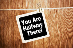 You are Halfway There Royalty Free Stock Image