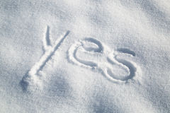 You handwriting in snow Stock Photo