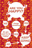 Are you happy?. Simple diagram for being happy Stock Images