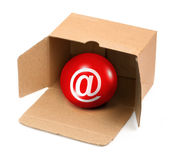 You have got mail in a box Royalty Free Stock Photography