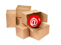 You have got mail in a box stock images