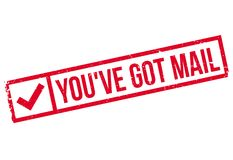You have Got Mail rubber stamp Royalty Free Stock Photos
