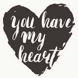 'You have my heart' card Stock Images