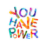 You have power. Vector royalty free illustration