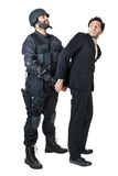 You have the right to remain silent Stock Image