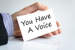 You have a voice text concept. Isolated over white background Royalty Free Stock Images
